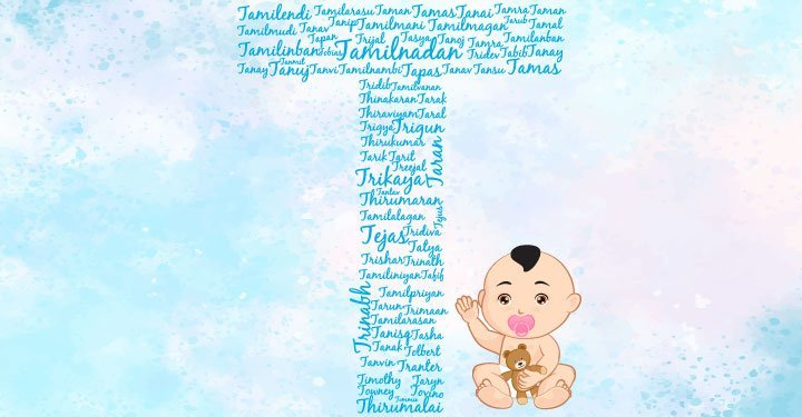 Baby boy names starting with the letter T