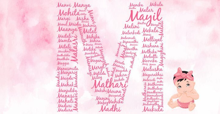 Baby girl names starting with the letter M