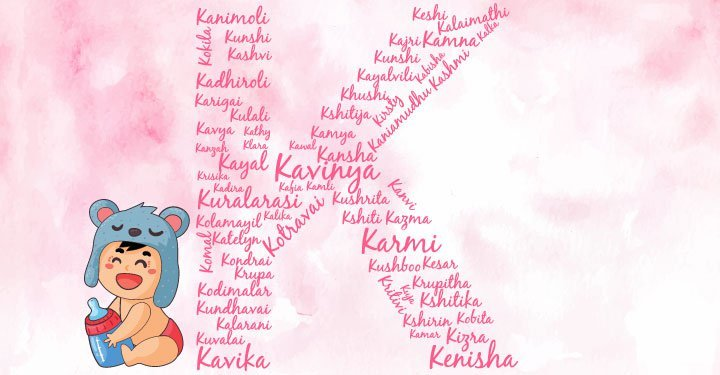 Baby girl names starting with the letter K