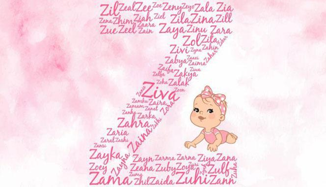 Baby girl names starting with Z