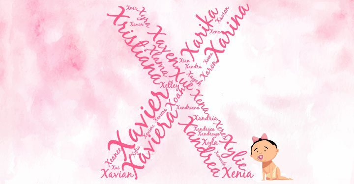 Baby girl names starting with the letter X